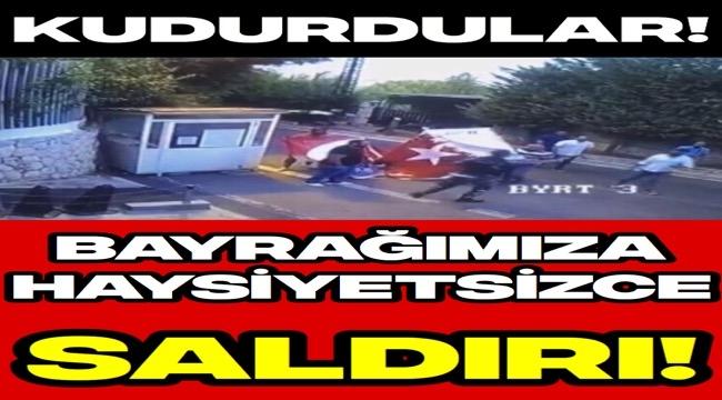 İsrail'deki Skandal Eylemde Türk Bayrağına Çirkin Saldırı